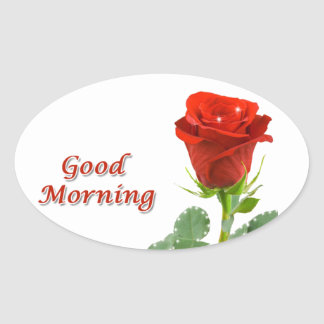 good morning oval sticker