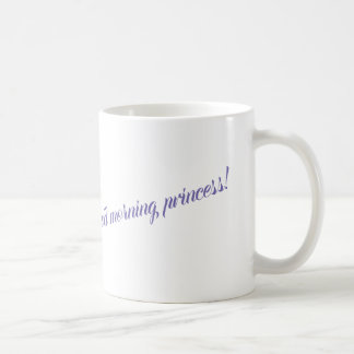 """Good morning princess"" beautiful mug with crown"