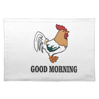 good morning rooster place mats