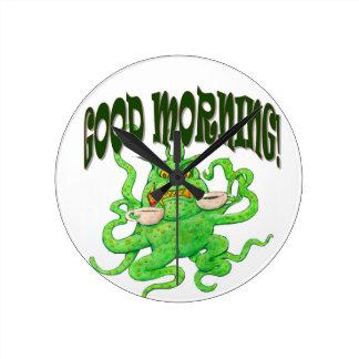 Good Morning! Round Clock