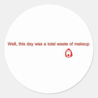good morning round sticker