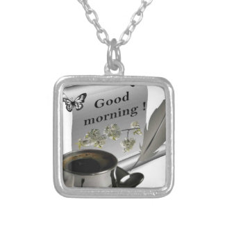 Good Morning Silver Plated Necklace