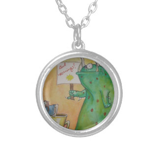 Good Morning! Silver Plated Necklace