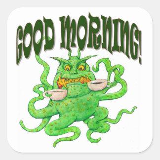 Good Morning! Square Sticker