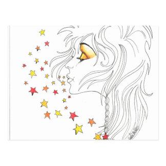 Good Morning Starshine Fantasy Art Postcard