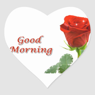 good morning heart sticker