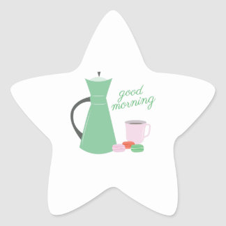 Good Morning Star Sticker