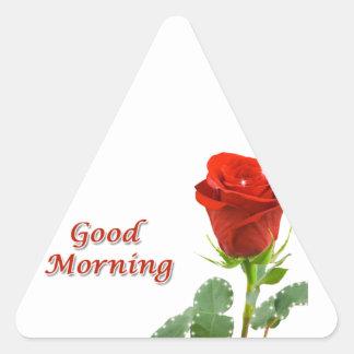 good morning triangle sticker