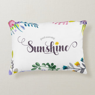 Good Morning Sunshine Accent Pillow