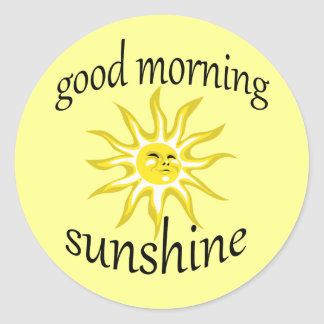 Good Morning Sunshine Affirmative Sticker