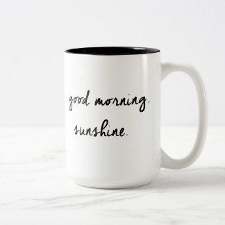 Good Morning Sunshine Black & White Mug