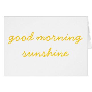 Good Morning Sunshine Card