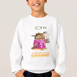Good morning sunshine owl sweatshirt
