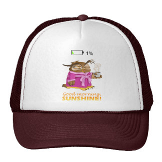 Good morning sunshine owl trucker hat