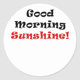 Good Morning Sunshine Round Sticker