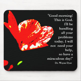 """Good morning! This is God"" Mousepad"