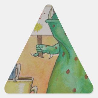 Good Morning! Triangle Sticker