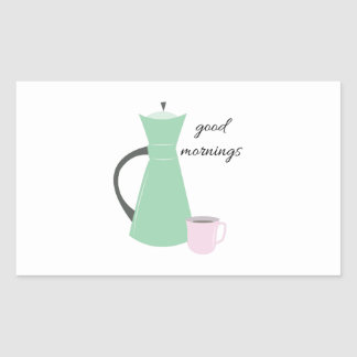 Good Mornings Rectangle Sticker