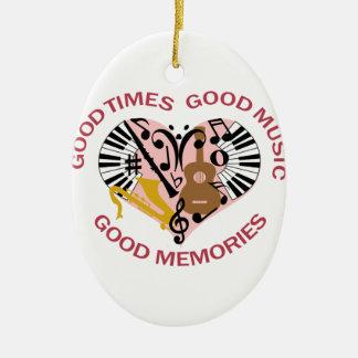 Good Music Ceramic Oval Ornament