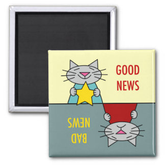Good News Bad News Cats Magnet