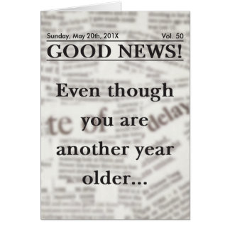 Good News Birthday Greeting Card