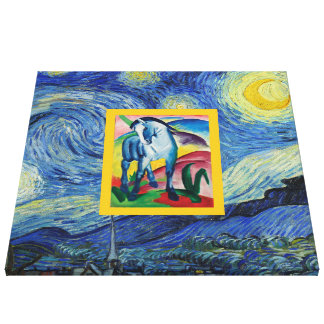 Good Night, Blue Horse Canvas Print