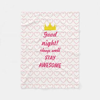 Good night! fleece blanket