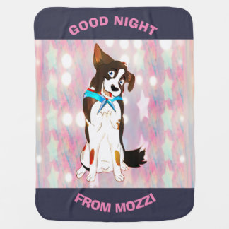 Good Night Girls From Mozzi Baby Blanket