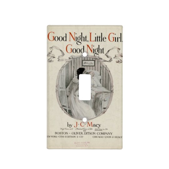 Good Night Little Girl - Light Switch Cover