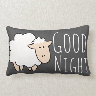 Good Night Sleep Cute Sheep Lumbar Pillow