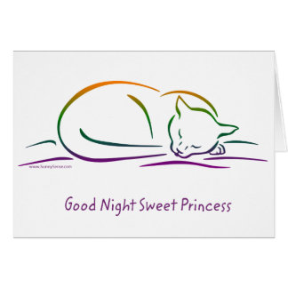 Good Night Sweet Princess (Cat) Card