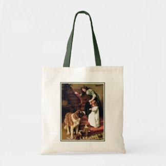 Good Night - with St. Bernard Tote Bags