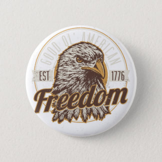 Good Ol American Freedom (Vintage) 2 Inch Round Button