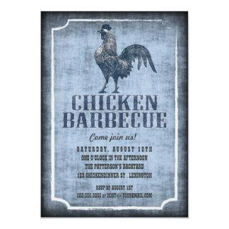 Good Old Fashion Chicken Barbecue Aged Invitation