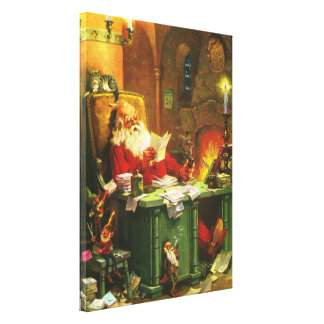 Good Old Santa Claus Gallery Wrap Canvas