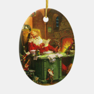 Good Old Santa Claus Ceramic Ornament