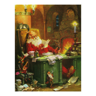 Good Old Santa Claus Poster