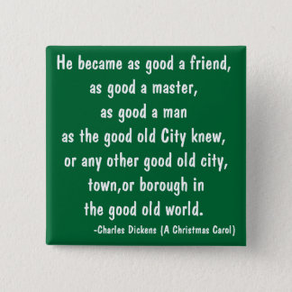 Good Old - The Scrooge Series 2 Inch Square Button