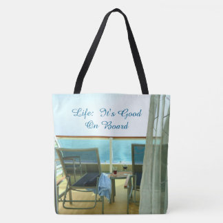 Good On Board Custom Nautical Tote Bag
