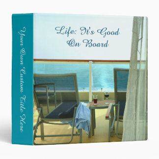 Good On Board Personalized 3 Ring Binder