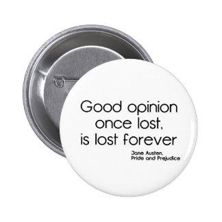 Good Opinion 2 Inch Round Button