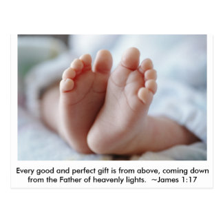 Good & Perfect Gift ~ Pregnancy Announcement Postcard