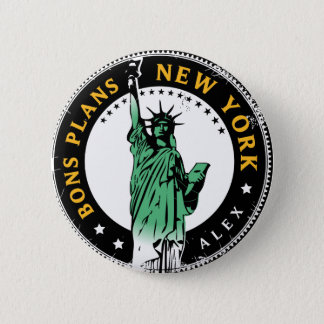 Good Plans for a voyage to New York 2 Inch Round Button