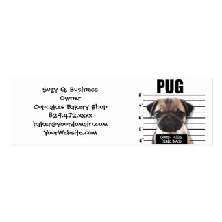 good pugs gone bad pack of skinny business cards