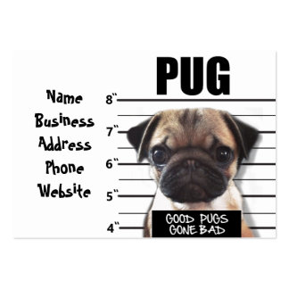 good pugs gone bad pack of chubby business cards