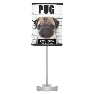 good pugs gone bad table lamp