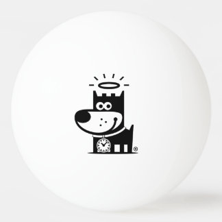 GOOD PUPPY Ping Pong Ball . Black on White