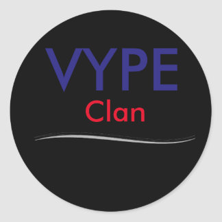 good quality and pretty cheap classic round sticker