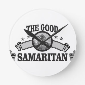 good Samaritan art bible Round Clock