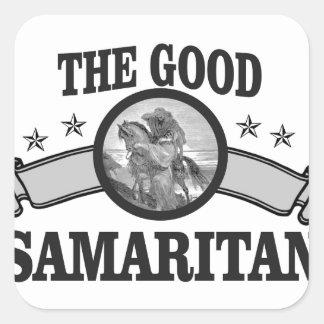 good samaritan christian square sticker